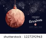 merry christmas and happy new... | Shutterstock .eps vector #1227292963