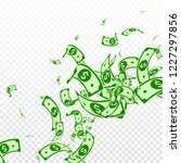 american dollar notes falling.... | Shutterstock .eps vector #1227297856