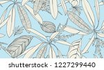 foliage seamless pattern  light ... | Shutterstock .eps vector #1227299440