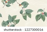 coffee tree seamless pattern ... | Shutterstock .eps vector #1227300016