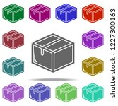 packing box icon. elements of... | Shutterstock .eps vector #1227300163