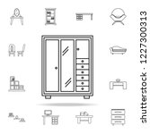 wardrobe icon. furniture icons... | Shutterstock .eps vector #1227300313