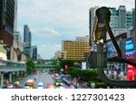 surveillance camera   cctv on... | Shutterstock . vector #1227301423