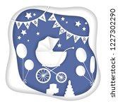 vector paper cut illustration... | Shutterstock .eps vector #1227302290
