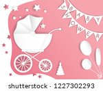 vector paper cut illustration... | Shutterstock .eps vector #1227302293