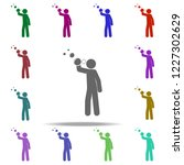 the child blows bubbles icon.... | Shutterstock .eps vector #1227302629