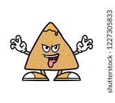 cartoon scaring tortilla chip...   Shutterstock .eps vector #1227305833