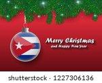 vector border of christmas tree ... | Shutterstock .eps vector #1227306136