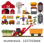 set of sugar cane farm element... | Shutterstock .eps vector #1227310666
