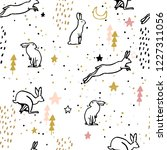 adorable seamless pattern with... | Shutterstock .eps vector #1227311056