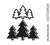 black and white isolated pine... | Shutterstock .eps vector #1227318520