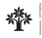 silhouetted tree icon isolated... | Shutterstock .eps vector #1227318526