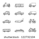 transportation icon series in... | Shutterstock .eps vector #122732104