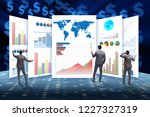 concept of business charts and... | Shutterstock . vector #1227327319