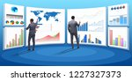 concept of business charts and... | Shutterstock . vector #1227327373