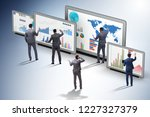 concept of business charts and... | Shutterstock . vector #1227327379