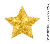 glitter gold star vector... | Shutterstock .eps vector #1227327919