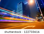 the city and the road at night   Shutterstock . vector #122733616
