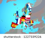 european union with national... | Shutterstock . vector #1227339226