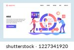 vector web site design template.... | Shutterstock .eps vector #1227341920