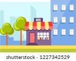 book store in city  urban shop...   Shutterstock .eps vector #1227342529