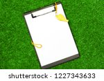 sheet of paper and sports... | Shutterstock . vector #1227343633