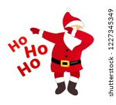 funny santa dabbing  quirky...   Shutterstock .eps vector #1227345349