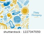 happy thanksgiving day design... | Shutterstock .eps vector #1227347050