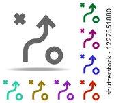 scheme of tactics icon.... | Shutterstock . vector #1227351880
