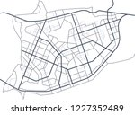city map. line scheme of roads. ... | Shutterstock . vector #1227352489