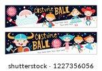 costume ball invitations.... | Shutterstock .eps vector #1227356056