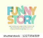 vector bright alphabet for... | Shutterstock .eps vector #1227356509