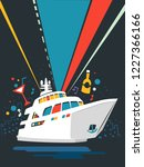 illustration of a yacht party... | Shutterstock .eps vector #1227366166