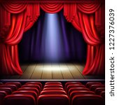 theater or concert hall stage... | Shutterstock .eps vector #1227376039