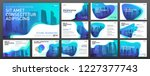 powerpoint presentation... | Shutterstock .eps vector #1227377743