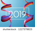 2019 new year holiday vector... | Shutterstock .eps vector #1227378823