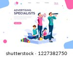 strategy and analysis on a... | Shutterstock .eps vector #1227382750