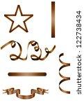 set of military georgian... | Shutterstock .eps vector #122738434