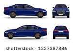 realistic car. sedan. front... | Shutterstock .eps vector #1227387886