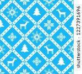 christmas knitted background... | Shutterstock .eps vector #1227391696