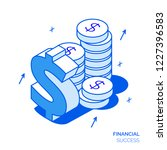 isometric financial analysis... | Shutterstock . vector #1227396583