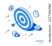 isometric business goal line... | Shutterstock . vector #1227396586