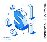 isometric financial analysis... | Shutterstock . vector #1227396706