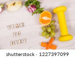 inscription time to diet with... | Shutterstock . vector #1227397099