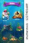 underwater item set   snowman ... | Shutterstock .eps vector #1227401689