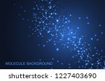 scientific molecule background... | Shutterstock .eps vector #1227403690