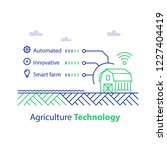 agriculture technology  smart... | Shutterstock .eps vector #1227404419