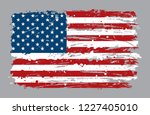 grunge flag of usa.dirty... | Shutterstock .eps vector #1227405010