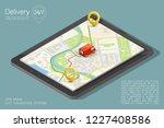 city map navigation route ... | Shutterstock .eps vector #1227408586