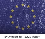 europe union flag painted on... | Shutterstock . vector #122740894